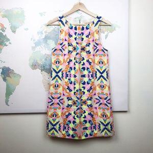 Mara Hoffman Neon Aztec Print Shift Dress Size 2